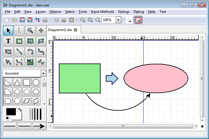 Dia draws your structured diagrams free windows mac os x and linux screenshot ccuart Image collections