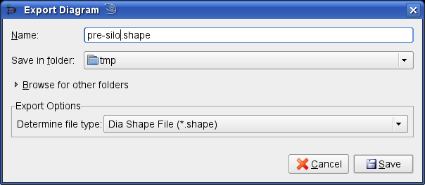How to add a new shape to dia export diagram dialog ccuart Image collections